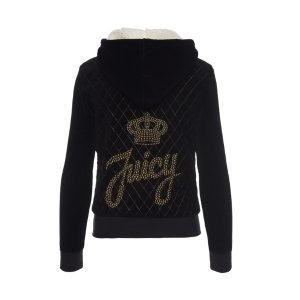 LOGO VELOUR JUICY STUD SCRIPT ROBERTSON JACKET - Juicy Couture
