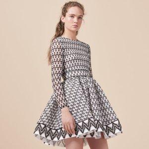 ROYAN Lace skater dress - Dresses - Maje.com