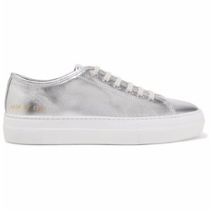 Common Projects Tournament metallic leather sneakers