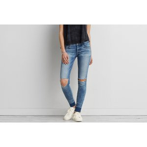 AEO Super Soft X4 Super Low Jegging, Let It Go | American Eagle Outfitters