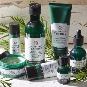 Buy 3 Get 3 or Buy 2 Get 1 Tea Tree Collection @ The Body Shop