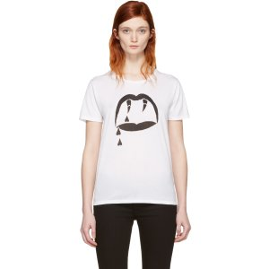 Saint Laurent: White Blood Luster T-Shirt
