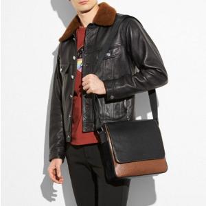 Metropolitan Map Bag in Material Block Leather