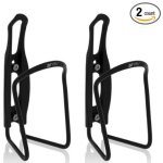 BV Bike Black Alloy and Plastic Economic Water Bottle Cage Pair BV-BC91-BK-PAIR