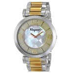 Salvatore Ferragamo Women's FG3060014 Gancino Two-Tone Watch with Link Bracelet