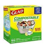 Glad 100% 可降解厨余专用垃圾袋,44个,销量冠军+5星好评