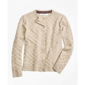 Merino Wool Basketweave Cardigan - Brooks Brothers