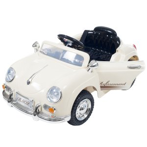 Battery Powered Classic Sports Ride On Toy Car With Remote Control & Sound
