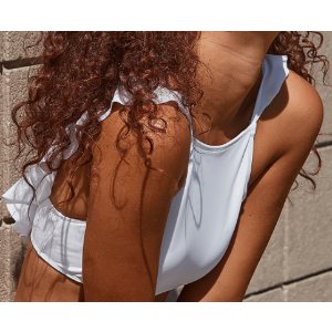 Aerie Crop Bikini Top , White