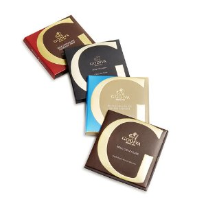 Artisan Chocolate Bar Top Sellers Gift Set, Pink Ribbon, 4 pc.   GODIVA