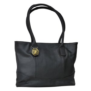 Amerileather Black Charm Leather Tote | zulily
