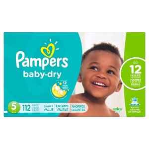 Pampers Baby Dry Diapers Giant Pack (Select Size)