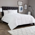 Light Weight Cotton Premium Down Alternative Comforter, king white