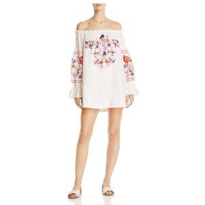 Free People Fleur Du Jour Off-the-Shoulder Dress