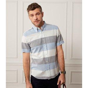 Wide Stripe Oxford Short Sleeve Shirt - JackSpade