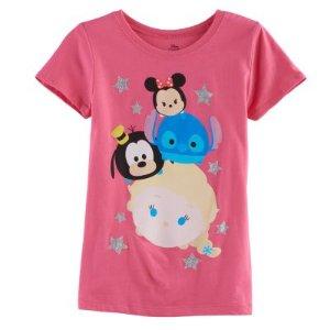 Disney's Tsum Tsum Minnie Mouse, Stitch, Goofy & Elsa Girls 7-16 Graphic Tee