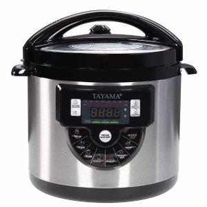 $51.97Tayama TMC-60XL 6 quart 8-in-1 Multi-Function Pressure Cooker, Black