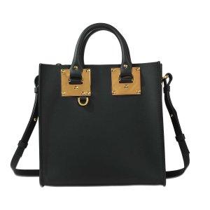 Square Albion Tote Bag Sophie Hulme Blue - Monnier Frères