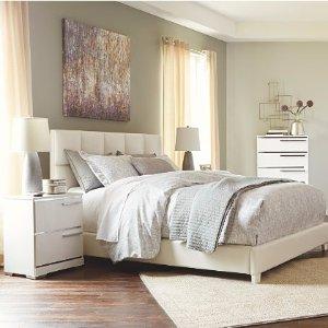 Queen床$198送到家Ashley 家居官网 布艺床低至8折促销