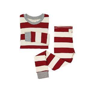 Big Kids Rugby Stripe Organic Cotton Pajamas