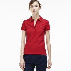 $61.99($89.50)Lacoste Women's Slim Fit Stretch Piqué Polo Shirt