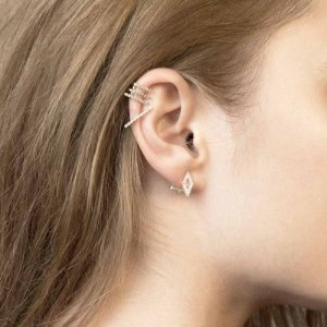 Gold Diamond Ear Jackets