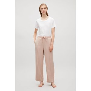 Tailored drawstring trousers - Soft Pink - Sale - COS US