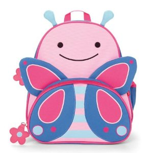 Skip Hop Zoo Little Kid Blossom Butterfly Pink/Blue Backpack with Insulated Pouch and Side Mesh Pocket - Toys