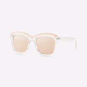 Metal Top Rim Clear Square Sunglasses