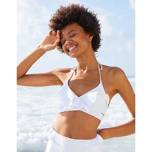 Aerie Scoop Wrap Bikini Top , White | Aerie for American Eagle