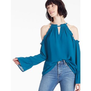 Cold Shoulder Top   Lucky Brand