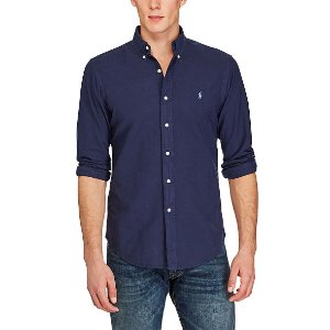 Slim Garment-Dyed Cotton Shirt - Slim Fit  Casual Shirts