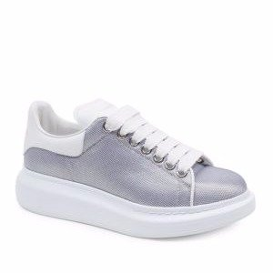 Metallic Mesh Sneakers