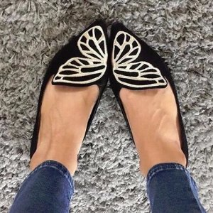 $260SOPHIA WEBSTER  Bibi Butterfly Suede Flats @ MATCHESFASHION.COM