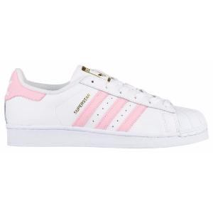 adidas Originals Superstar - Girls' Grade School - Basketball - Shoes - White/Light Pink/Met Gold