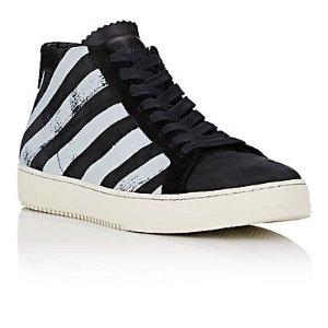 Off-White c/o Virgil Abloh Diagonal-Striped High-Top Sneakers