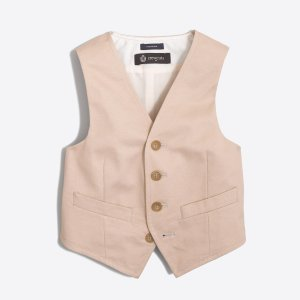 Boys' Thompson suit vest in chino : FactoryBoys Online Exclusives   Factory