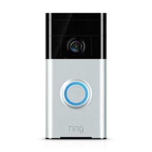$99Ring Wi-Fi Enabled Video Doorbell in Satin Nickel