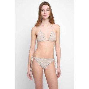 Bikini Lab Take It Or Weave It Triangle Bikini Top   South Moon Under