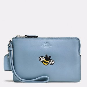 Coach Boxed Embossed Small Wristlet in Refined Calf Leather @ Bon-Ton