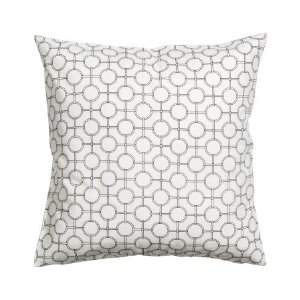Patterned Cushion Cover | White | H&m home | H&M US