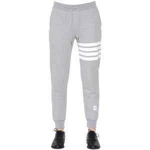THOM BROWNE - INTARSIA COTTON JERSEY JOGGING PANTS
