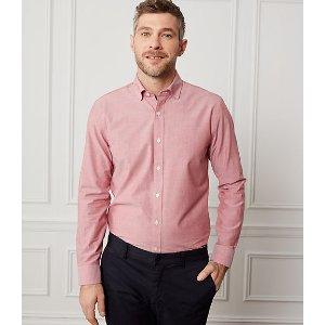 Chambray Spread Collar Shirt - JackSpade