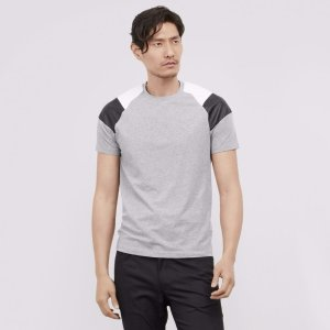 Short Sleeve Tee with Pleather and Mesh
