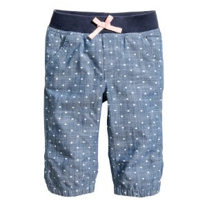 3/4-length Pull-on Pants | Denim blue/hearts | Kids | H&M US