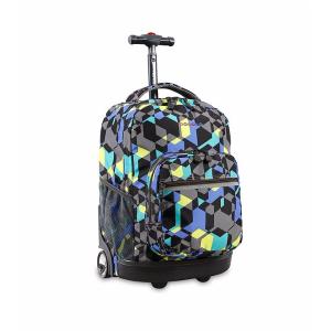 J World® Sunrise Cubes Rolling Backpack | Bon-Ton