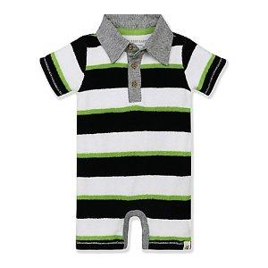 Burt's Bees Baby® Terry Stripe Shortall - buybuy BABY