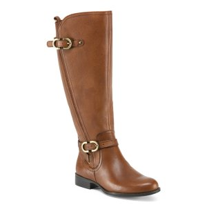 Wide Calf High Shaft Leather Boots