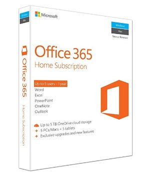 $58.13Microsoft Office 365 Home, Licence Card, 5 Users, 1 year subscription (PC/Mac)