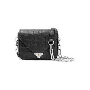Croc-effect leather shoulder bag | Alexander Wang
